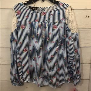 Girls size 14 Amy Byer Shirt with necklace